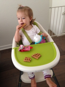 kid tested, and kid approved sweet potato waffles from the Fearless Flying Kitchen