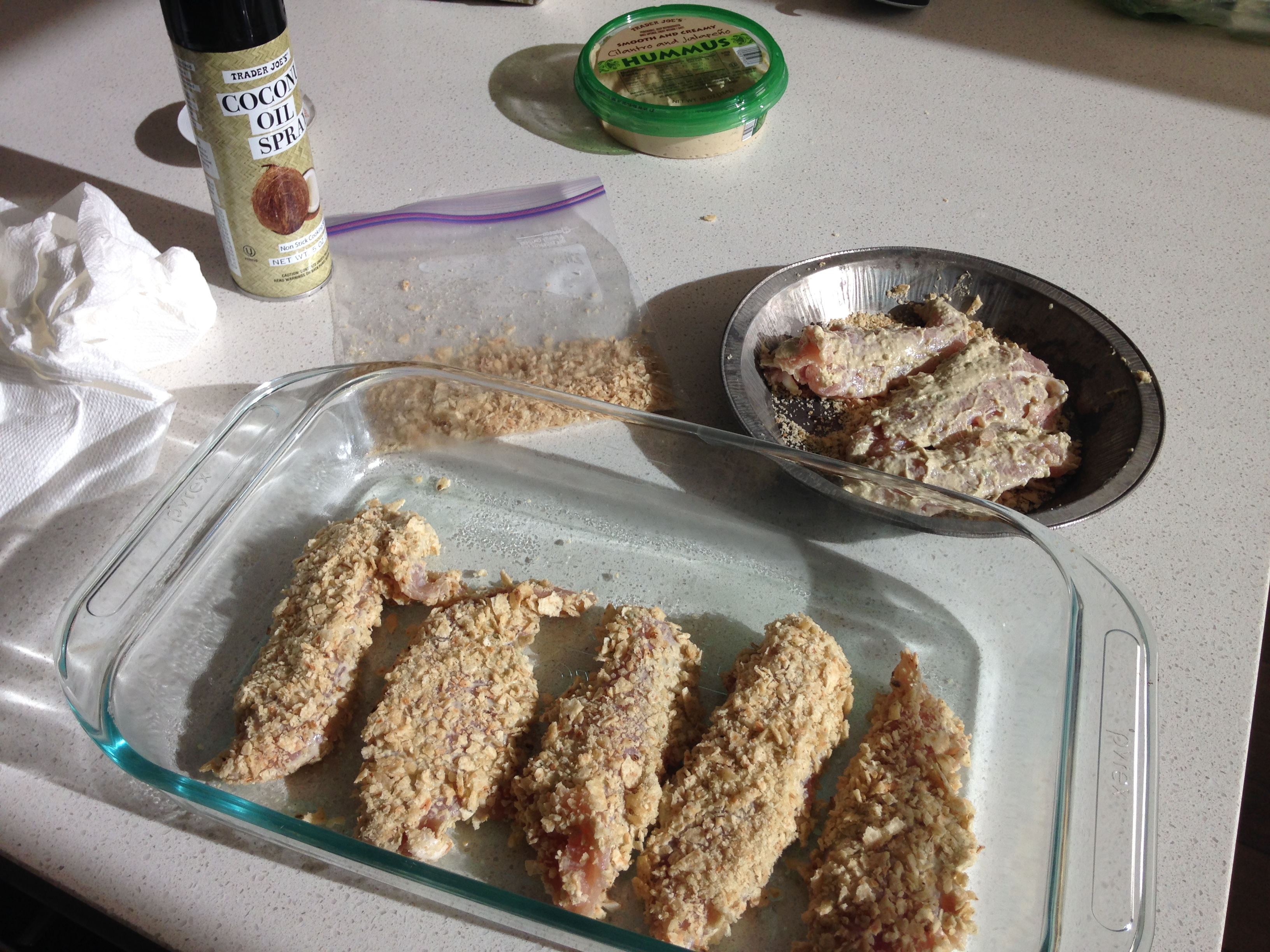 corn tortilla crusted chicken tenders recipe dishmaps corn tortilla ...