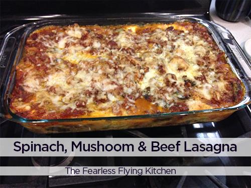 Spinach Mushroom Beef Lasagna