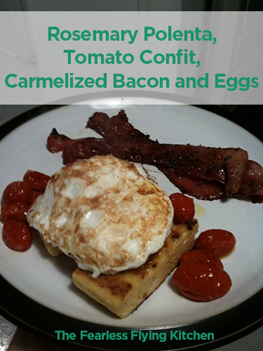 Polenta Caramelized Bacon Eggs