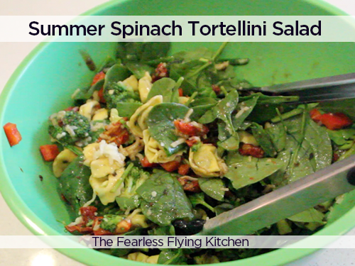 Summer Spinach Tortellini Salad from The Fearless Flying Kitchen
