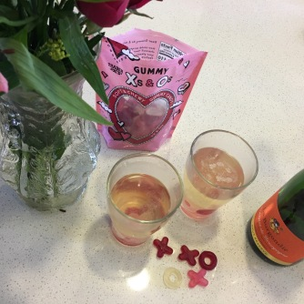Gummy Candy Champagne Flowers