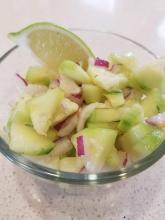 Cucumber Lychee Chutney